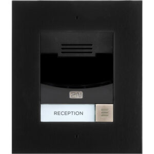 2N IP Solo with Camera Flush Mount - Black (inc frame - requires 9155017)