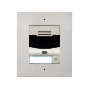 2N IP Solo with Camera Flush Mount - Brushed Nickel (inc frame - requires 9155017)